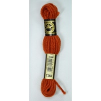 DMC Tapestry Wool, 8m SKEIN, #7360 DARK ORANGE SPICE, Laine Colbert Wool