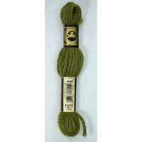 DMC Tapestry Wool, 8m SKEIN, Colour 7377 DARK KHAKI GREEN (7393), Laine Colbert Wool