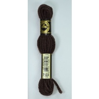 DMC TAPESTRY WOOL, 8m SKEIN, Colour 7533 VERY DARK MOCHA BROWN, 7419