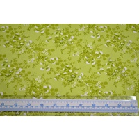 100% Cotton Fabric, # 5012.D, 110cm Wide Per Metre, GREEN