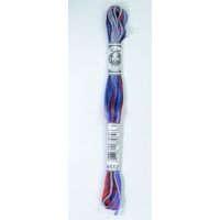 DMC Coloris Thread, Embroidery Floss 8m Multi Colour 4512, STATES