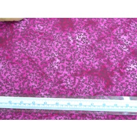 Cotton Fabric #5609.H, 110cm Wide Per Metre, HOT PINK / MAUVE Floral Sprigs