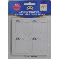 DMC Floss Bobbin Cards Pack of 56, Cardboard Type