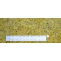 BATIK Fabric Per 1/2 Metre, 110cm Wide, #640062.1414 GOLD, 100% Cotton