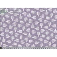 Notting Hill Print 647217, Colour 0202, 145cm W Per Metre PURPLE/CREAM Leaves