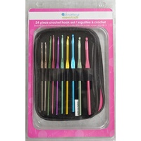 Knitting Essentials Crochet Hook Set 24 piece sizes 00-14