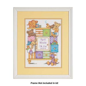 BABY DRAWERS BIRTH RECORD Counted Cross Stitch Kit #73538 By Dimensions