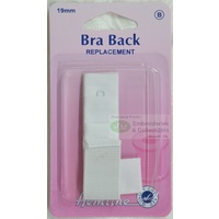 "Hemline Bra Back Replacement 19mm (3/4""), 1 Hook, 2 Rows, WHITE"