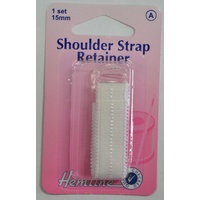 Hemline Shoulder Strap Retainer, 1 Set, 15mm, Instructions Included