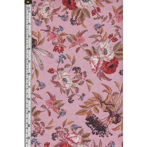 Michael Miller Cotton Fabric Elderberry Flower Fairies Pink 110cm Wide Per Metre