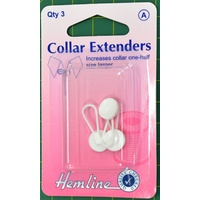 Collar Extenders, Increases Collars One Half Size Larger, 3 Pack, Hemline