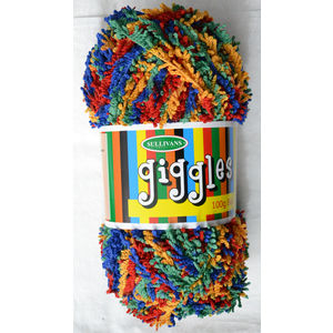 Sullivans Giggles Knitting Yarn, 100g Ball, Bulky Weight, BRIGHT MIX