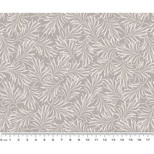 Boughs of Beauty Smoke Grey Quilt Backing Fabric, 275cm wide, 100% Cotton