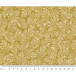 Boughs of Beauty Antique Gold Quilt Backing Fabric, 275cm wide, 100% Cotton