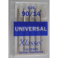 Klasse Sewing Machine Needles, UNIVERSAL Size 90 / 14, Pack of 5 Needles