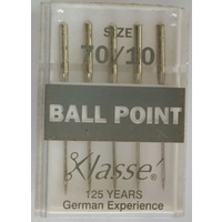 Klasse BALL POINT Size 70/10 Sewing Machine Needles, Pack of 5 Needles