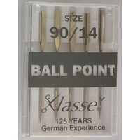 Klasse BALL POINT Size 90/14 Sewing Machine Needles, Pack of 5 Needles
