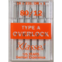 Klasse Overlocker Machine Needles, TYPE A, DBx1, 2053, 16 x 231, Pack of 5 Needles, Serger Needles