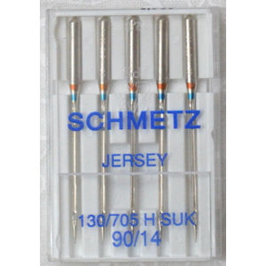 Schmetz JERSEY Ballpoint Machine Needles, Size 90 / 14, Pack of 5 Needles