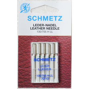 Schmetz Machine Needle LEATHER Size 70/10, Pack of 5 Needles