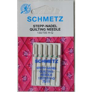 Schmetz Machine Needle Quilting Size 75, Pack Of 5, 130/705 H-Q