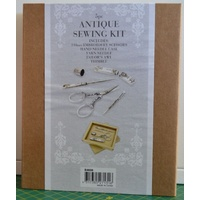 New 5 pce Antique Style Sewing Kit, Scissors/Needle Case/Yarn Needle/Awl/Thimble