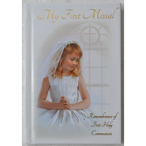 Communion Book, My First Missal, Remberance, Hard Cover (GIRL)