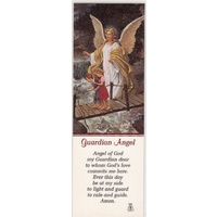 Guardian Angel Laminated Prayer Card Bookmark, 53 x 155mm, Holy Card