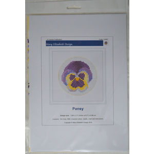 Counted Cross Stitch, Mini Florals, Pansy, 6.71 x 6.89cm