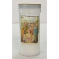 Holy Family Devotional Candle, Approx 70 Hours Burn Time, 60 x 140mm