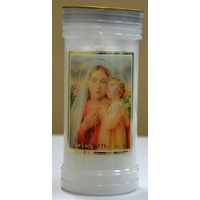 OUR LADY OF THE ROSARY Devotional Candle, 70 Hour Burn Time, 60 x 140mm