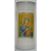 OUR LADY OF PERPETUAL HELP Devotional Candle, 70 Hour Burn Time, 60 x 140mm, includes Prayer