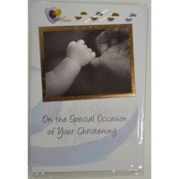 Christening Greeting Card, Boy, On The Special Occasion of Your Christening, 115mm x 170mm