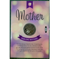 Darling Mother, Card & Lucky Coin, 115 x 170mm, Luck Coin 35mm, A Beautiful Gift
