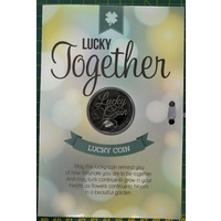 Lucky Together, Card & Lucky Coin, 115 x 170mm, Luck Coin 35mm, A Beautiful Gift
