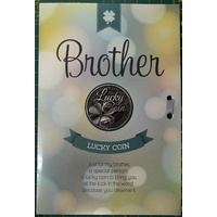 BROTHER, Card & Lucky Coin, 115 x 170mm, Luck Coin 35mm, A Beautiful Gift