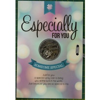 Especially For You, Card & Lucky Coin, 115 x 170mm, Luck Coin 35mm, A Beautiful Gift