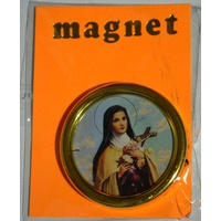 St Therese, Magnetic Car Plaque Or Memo Holder, 37mm Diameter