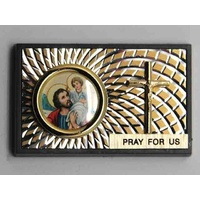SAINT CHRISTOPHER Magnetic Car Plaque or Memo Holder Beautifully Finished