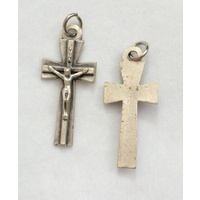Crucifix 44mm Silver Tone Metal Crucifix Pendant Quality Made in Italy, Cross