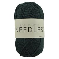Needles Acrylic Knitting Yarn 8 Ply, 100g Ball, CHARCOAL