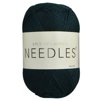 Needles Acrylic Knitting Yarn 8 Ply, 100g Ball, MALLARD