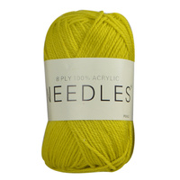 Needles Acrylic Knitting Yarn 8 Ply, 100g Ball, PICKLE