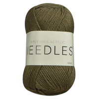 Needles Acrylic Knitting Yarn 8 Ply, 100g Ball, CEDAR