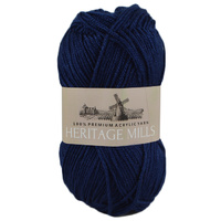 Heritage mills Supersoft Acrylic Knitting Yarn 8ply, 100g Ball, NAVY BLUE