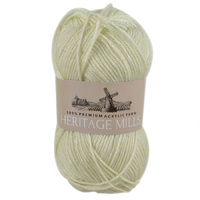 Heritage mills Supersoft Acrylic Knitting Yarn 8ply, 100g Ball, CREAM