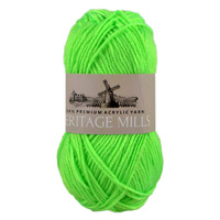 Heritage mills Supersoft Acrylic Knitting Yarn 8ply, 100g Ball, FLURO GREEN