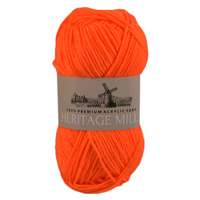 Heritage mills Supersoft Acrylic Knitting Yarn 8ply, 100g Ball, ORANGE