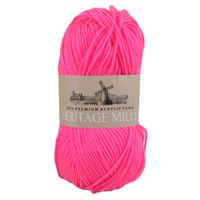 Heritage mills Supersoft Acrylic Knitting Yarn 8ply, 100g Ball, HOT PINK
