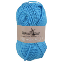 Heritage mills Supersoft Acrylic Knitting Yarn 8ply, 100g Ball,  JUST BLUE